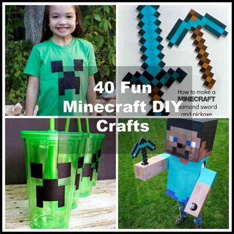 minecraft arts and crafts projects 40 minecraft diy crafts ideas