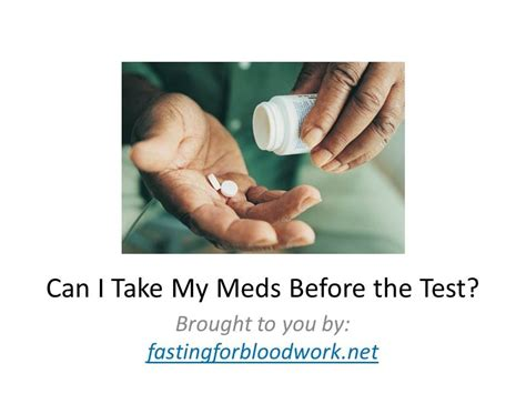 fasting blood test fasting for blood work can i take my medication