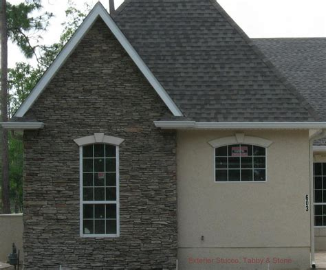 Southern Home Decor Blogs exterior tabby with stacked ledgestone from s amp s stucco