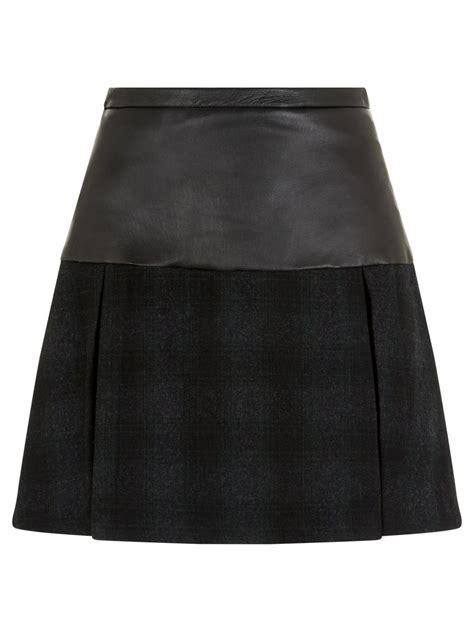black leather pleated skirt bennett black leather pleated skirt
