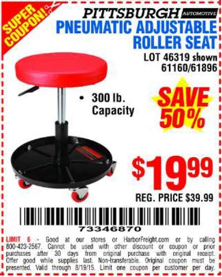pneumatic roller seat harbor freight harbor freight tools coupon database free coupons 25