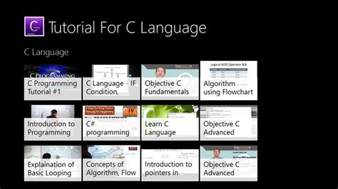 c tutorial application tutorials for c language for windows 8 and 8 1