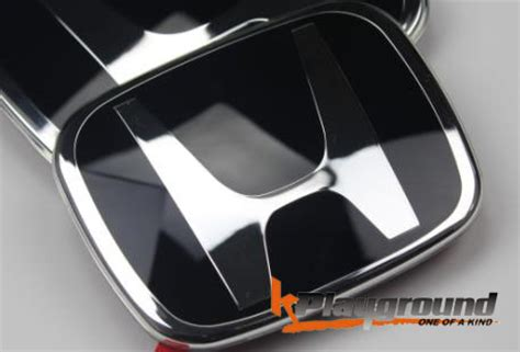 black honda accord emblem 06 11 2012 civic coupe sedan jdm style black h front emblem