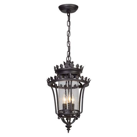 forged iron pendant lighting feiss martinsville 3 light black outdoor pendant ol5911bk