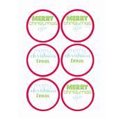 8 Best Images Of Mason Jar Christmas Labels Printable