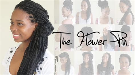 Wedding Hairstyles For Box Braids by Box Braids Wedding Hairstyle The Flower Pin