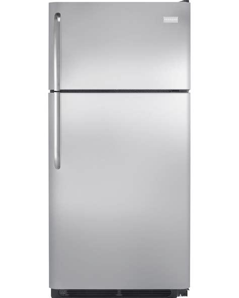 frigidaire freezer shelves frigidaire 18 cu ft top mount refrigerator stainless