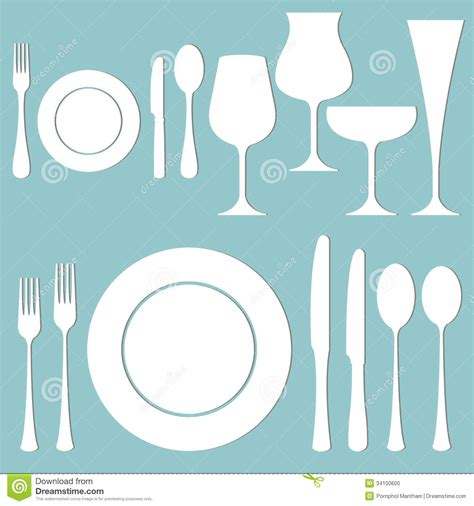 table layout vector vector set of formal dinner on the table stock photo