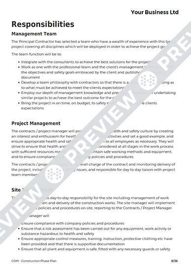 construction phase plan template construction phase plan cdm template haspod