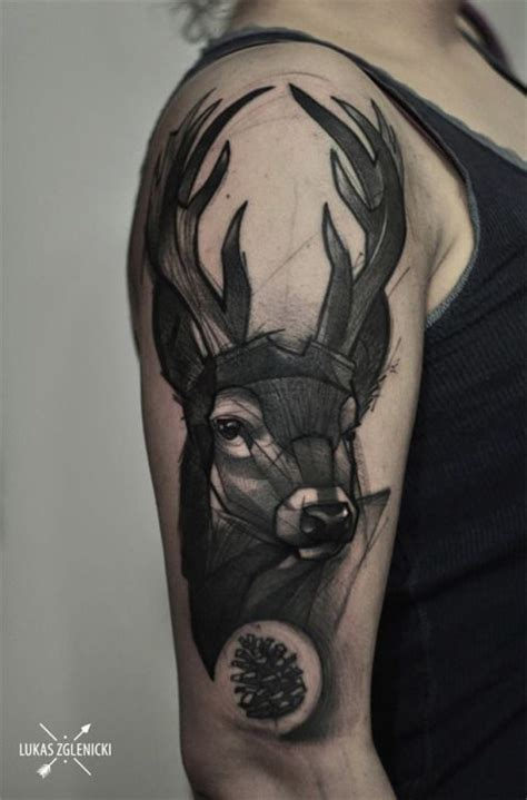 stag tattoo meaning brilliant stag by lukas zglenicki ideas