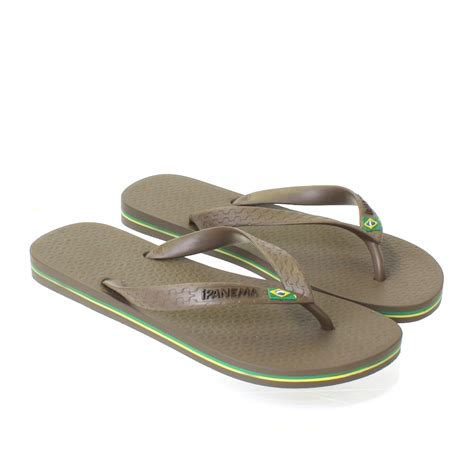 ipanema shoes mens ipanema brown flag sandals shoes flip flops
