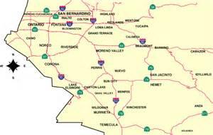 map of inland empire california inland empire california map