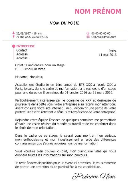 Lettre De Motivation Free Center 25 Melhores Ideias De Une Lettre De Motivation No Carta De Apresenta 231 227 O
