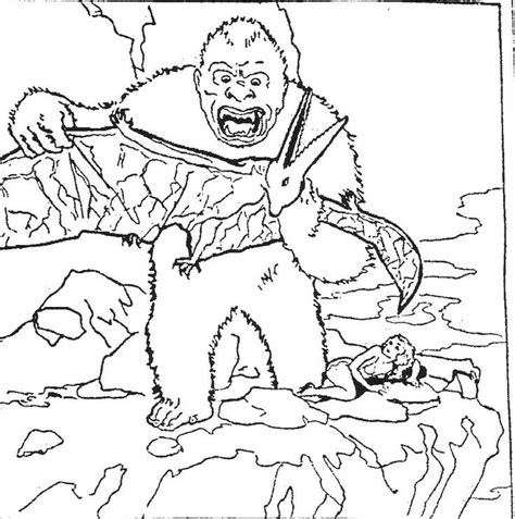 king kong coloring pages coloring home