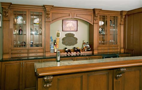 home bar with granite top irish pub home bar custom cabinetry by ken leech