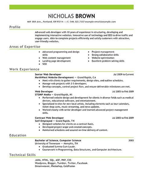 net programmer resume format best it web developer resume exle livecareer