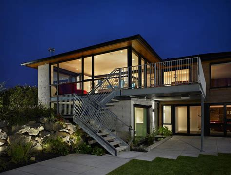 modern contemporary house plans exposed concrete style