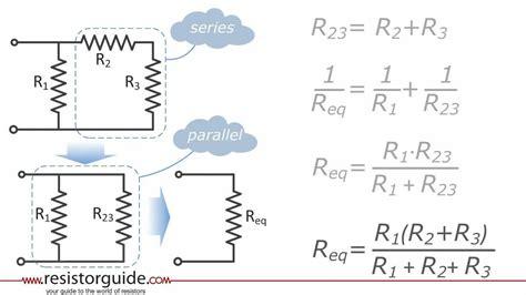 solve resistor in series resistors in series and parallel