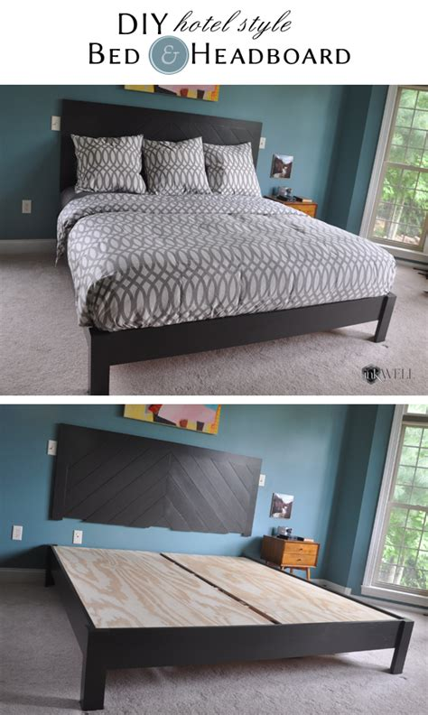 how to make a bed hotel style diy hotel style headboard platform bed inkwell press