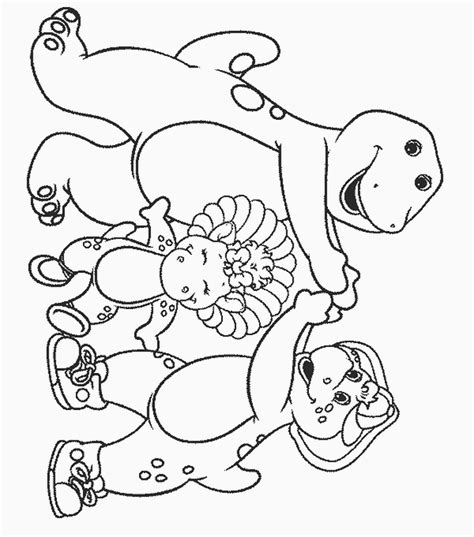 barney coloring pages to print az coloring pages
