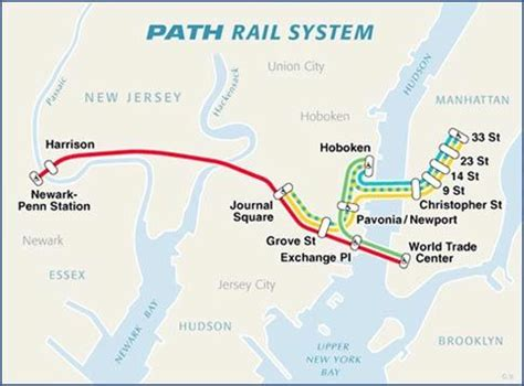 Jersey City Light Rail Map Path Train Rail Map New Jersey Pinterest Paths Maps