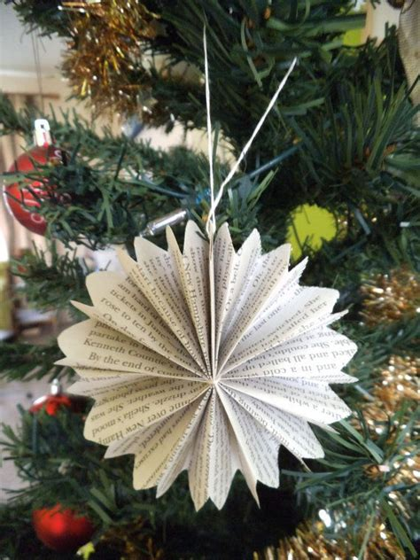paper christmas decorations folded paper flowers set of 3