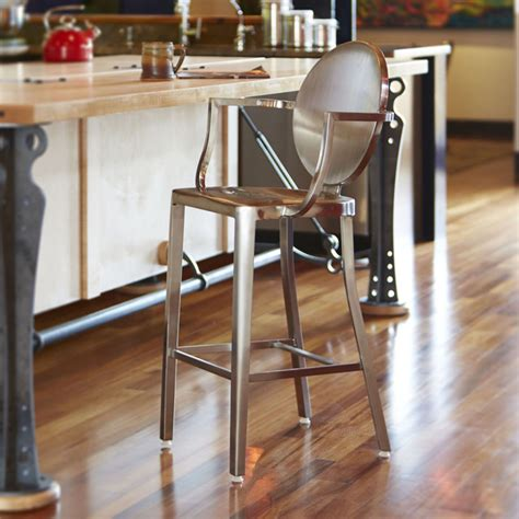 stainless steel bar stools with backs dalton home indoor chair collection brushed stainless