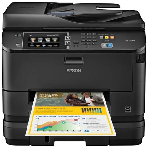 Printer All In One Epson Pro Workforce Wp 4590 epson workforce pro wf 4640 wireless color all in one