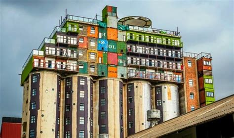 how to buy shipping containers for housing silos topped with stacks of shipping containers provide cheap student housing in south