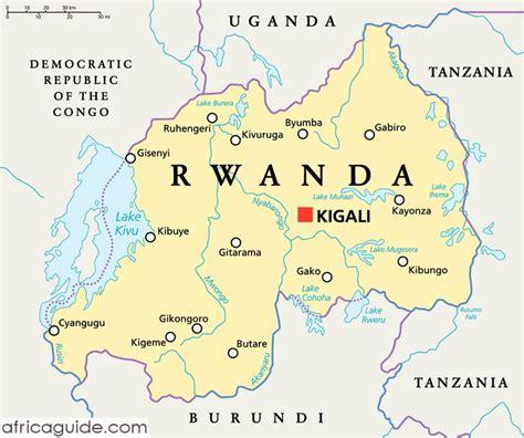 rwanda map rwanda guide
