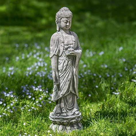 Lotus Statue Standing Lotus Buddha Statue