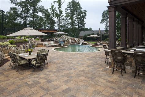pool patio pavers pool deck materials guide top pool decking options