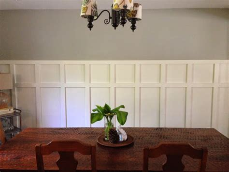 dining room wainscoting dream home pinterest home made modern square wainscoting in the dining room