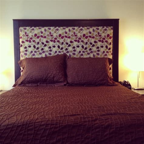 Diy Headboard Fabric Diy Fabric Headboard Construct Pinterest