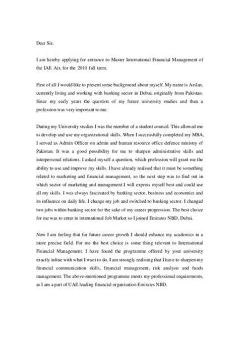 Application Letter For Mba by Motivation Letter For Mba Application Free Essays