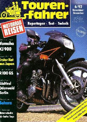 Das Motorrad Zeitschrift Archiv by Tourenfahrer Archiv Test Reise Zubeh 246 R Tourenfahrer