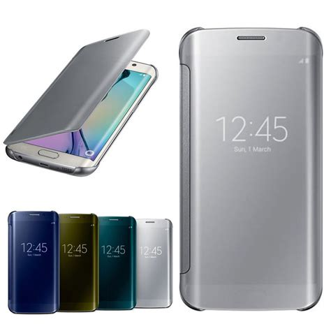Keren Flip Electroplate For Samsung Galaxy A8 Limited clear view cover for samsung galaxy s6 edge s6 mirror screen flip leather for samsung