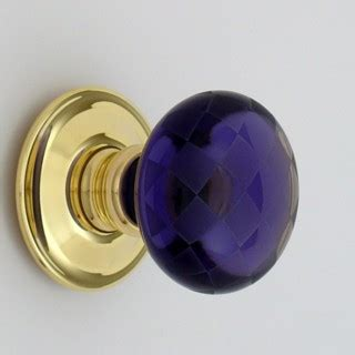 purple chequerboard glass door knob ironmongery