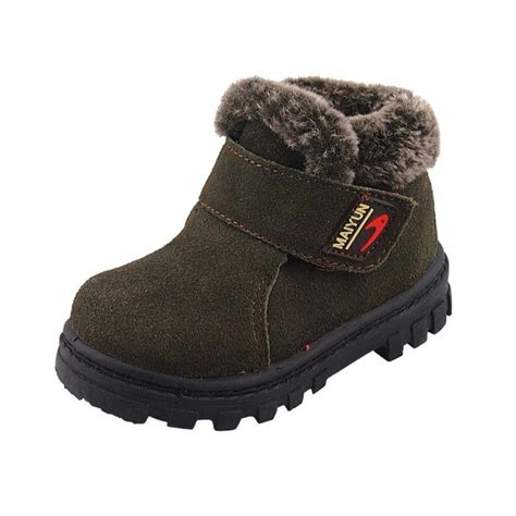 toddler boy boots dadawen boy s s leather waterproof winter boots