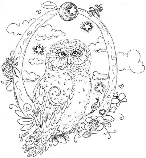 and fairies a grayscale coloring book fairies mermaids dragons and more books owl coloring pages free coloring info
