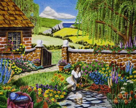 loveliest flower   garden drawing  robert thornton