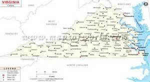 cities in virginia virginia cities map