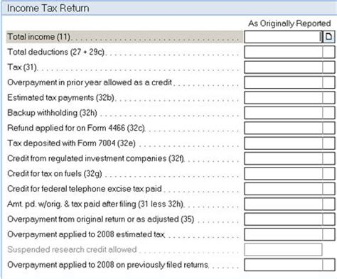 generating form 1120x corporate amended return