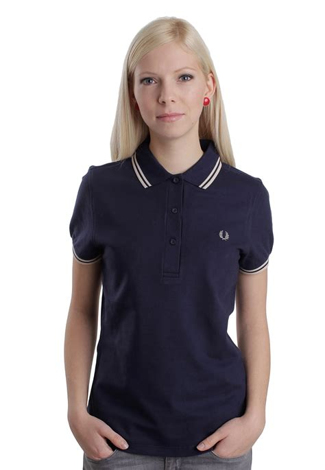 fred perry twin tipped fred perry inky blue girl polo pin fred perry twin tipped inky blue girl polo impericon