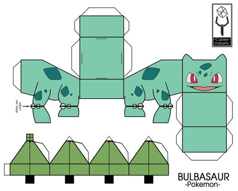 Bulbasaur Papercraft - papercraft pokeball search