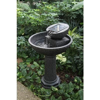 solar garden fountains home depot greenway rosella solar reaslistic granite finish 36 4 inches high home depot