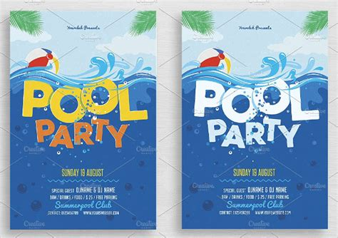 pool invite template 21 pool invitations free psd vector ai eps