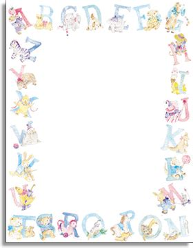 Baby Shower Printing Paper stationery notecards letterhead stationery papers baby