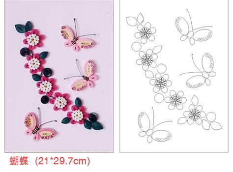 printable quilling templates 12 pieces set necessary diy