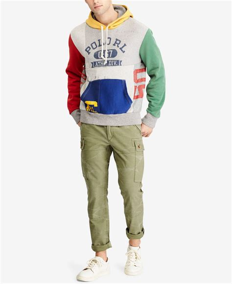 Patchwork Hoodie - polo ralph s patchwork hoodie for lyst